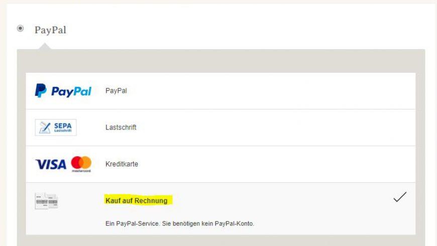 Neu im Shop: Auf Rechnung bestellen – 30 Tage später bezahlen