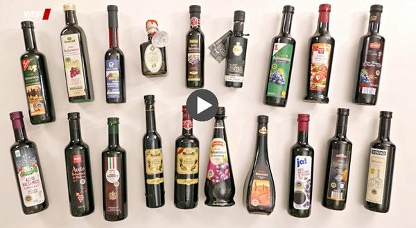 Link zum Video WDR Balsamico Test der Stiftung Warentest